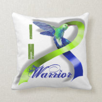 Intracranial Hypertension Warrior Throw Pillow