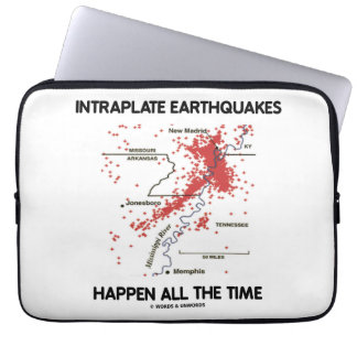 Intraplate Earthquakes Happen All The Time Computer Sleeve