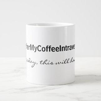 Intravenous Coffee 20 Oz Large Ceramic Coffee Mug