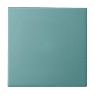 Intrépido azulverde de la turquesa azulejo cuadrado pequeño