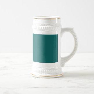 Intrépido azulverde de la turquesa jarra de cerveza
