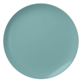 Intrépido azulverde de la turquesa platos de comidas