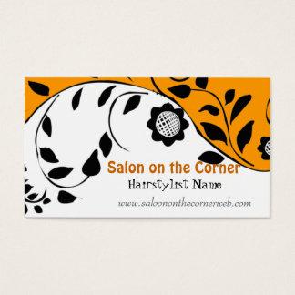 Intrépido elegante floral del estilo del bordado tarjeta de negocios