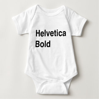 Intrépido Helvética Body Para Bebé