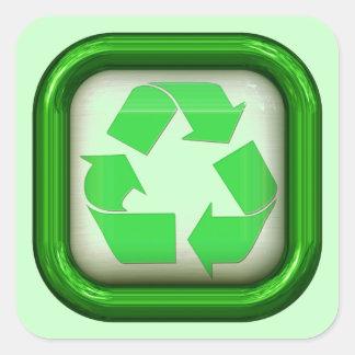 Intrépido recicle al pegatina