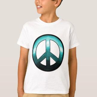 ~ intrépido Turquise del signo de la paz Playera