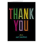 Intrépido y brillante gracias tarjeta de nota - bl