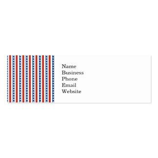 Intrépido y diversión 4to del modelo de barras y tarjetas de visita mini
