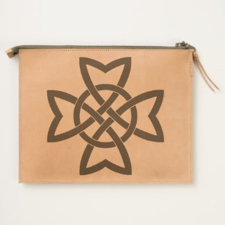 Intricate Abstract Knotted Celtic Design Black Travel Pouch
