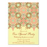 Intricate Arabesque, 4.5x6.25 customizable Invitation
