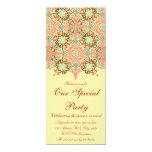 Intricate Arabesque, 4x9.25 customizable Invitation