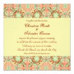 Intricate Arabesque, 5.25x5.25 wedding Invitation