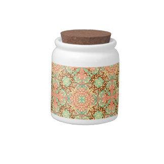 Intricate Arabesque, candy jars