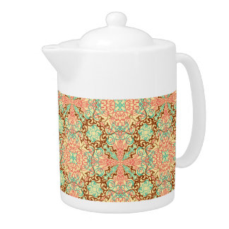 Intricate Arabesque, teapots