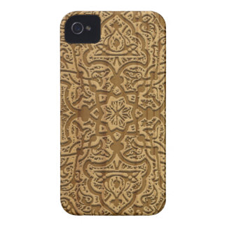 Intricate arabic wood carving iPhone 4 cover