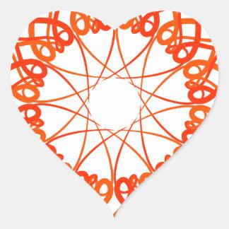 Intricate Art Heart Sticker