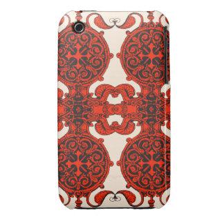 Intricate art nouveau design tangerine tango iPhone 3 Case-Mate case