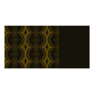 Intricate Black and Brown Pattern Card