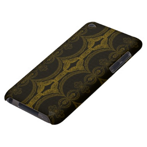 Intricate Black and Brown Pattern Barely There iPod Cases