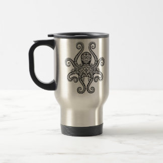 Intricate Black Octopus Mug
