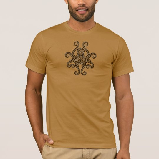 Intricate Black Octopus T-Shirt