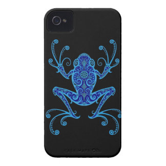 Intricate Blue and Black Tree Frog Case-Mate iPhone 4 Case