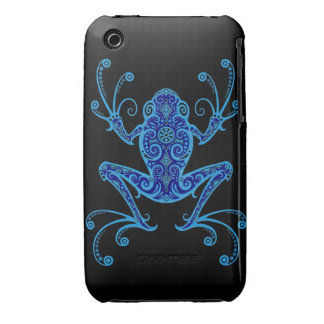 Intricate Blue and Black Tree Frog iPhone 3 Case-Mate Cases