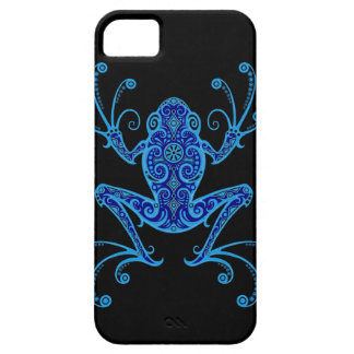 Intricate Blue and Black Tree Frog Case For The iPhone 5