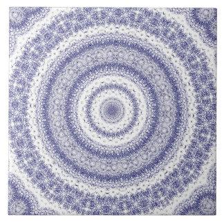 intricate blue circles pattern abstract modern fun ceramic tile