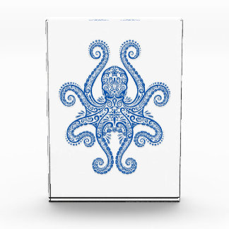 Intricate Blue Octopus Acrylic Award