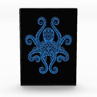 Intricate Blue Octopus on Black Award