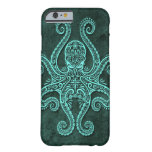 Intricate Blue Stone Octopus Barely There iPhone 6 Case