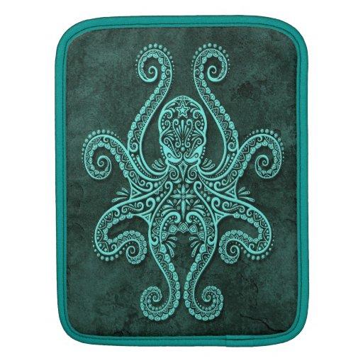 Intricate Blue Stone Octopus iPad Sleeves