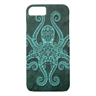 Intricate Blue Stone Octopus iPhone 7 Case