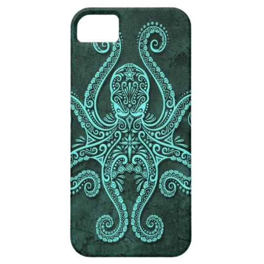 Intricate Blue Stone Octopus iPhone SE/5/5s Case