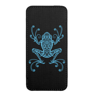Intricate Blue Tree Frog iPhone 5 Pouch