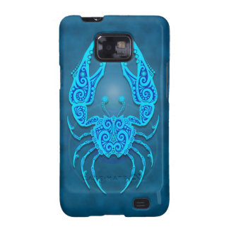 Intricate Blue Tribal Cancer Samsung Galaxy SII Covers