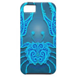 Intricate Blue Tribal Cancer, tight iPhone 5 Cases