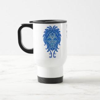 Intricate Blue Tribal Leo Travel Mug