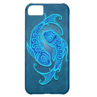Intricate Blue Tribal Pisces iPhone 5C Cases