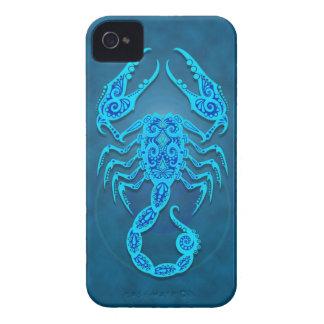Intricate Blue Tribal Scorpio iPhone 4 Cases