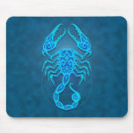 Intricate Blue Tribal Scorpio Mouse Pad
