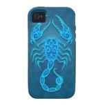 Intricate Blue Tribal Scorpio Vibe iPhone 4 Case