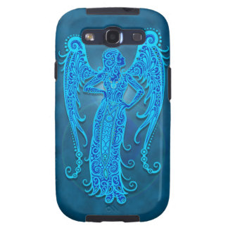 Intricate Blue Tribal Virgo Galaxy SIII Covers