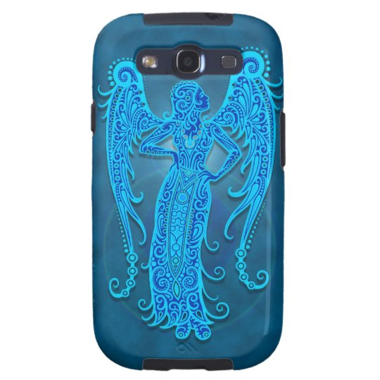 Intricate Blue Tribal Virgo Samsung Galaxy SIII Cover