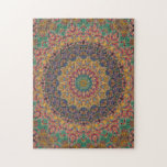 "Intricate Blue, Yellow, and Teal Mandala Jigsaw Puzzle<br><div class=""desc"">Like a challenge? This custom jigsaw puzzle features an image of a blue, yellow, and teal mandala, created exclusively by Janusian Gallery artists. Its symmetrical design and tapestry-like colors will keep you entertained. It&#39;s available in multiple sizes. Because we create all our own artwork, you won&#39;t find this exact image...</div>"