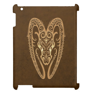 Intricate Brown Aries Zodiac iPad Case