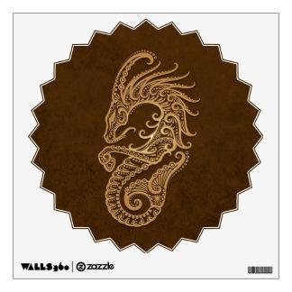 Intricate Brown Capricorn Zodiac Wall Decal