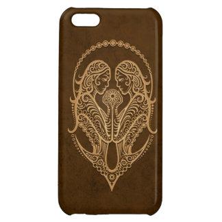 Intricate Brown Gemini Zodiac Case For iPhone 5C