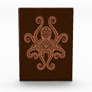 Intricate Brown Octopus Award